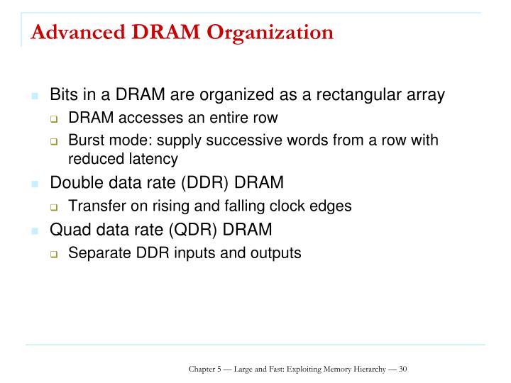 Advanced DRAM Organization