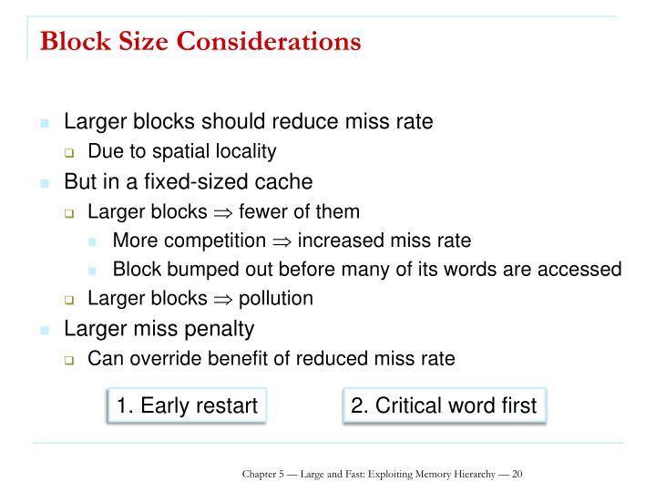 Block Size Considerations