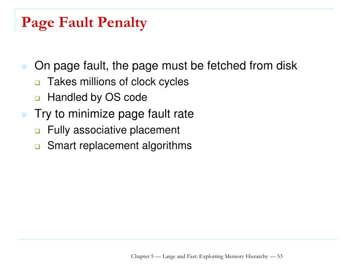 Page Fault Penalty