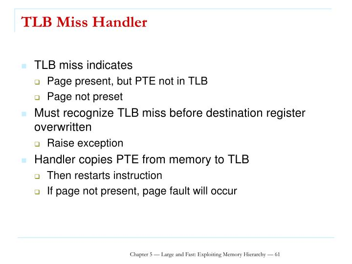 TLB Miss Handler
