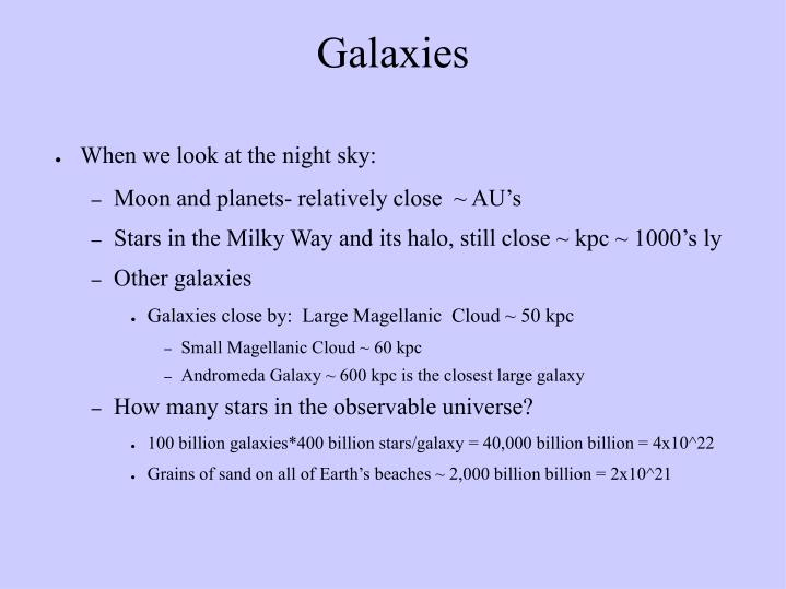 When we look at the night sky: