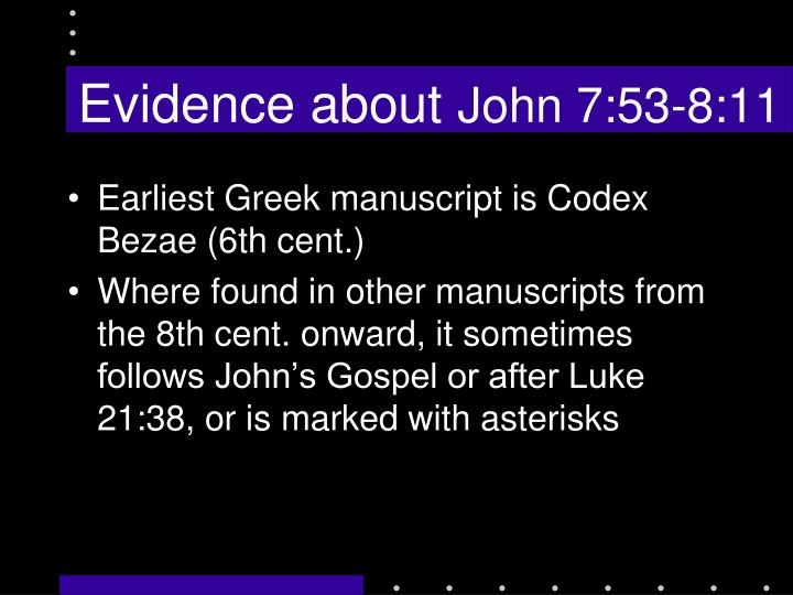 Evidence about