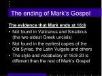 the ending of mark s gospel
