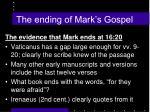 the ending of mark s gospel1