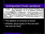 unimportant trivial variations1