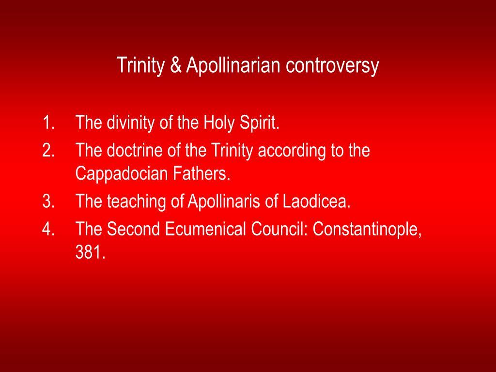 Trinity & Apollinarian controversy