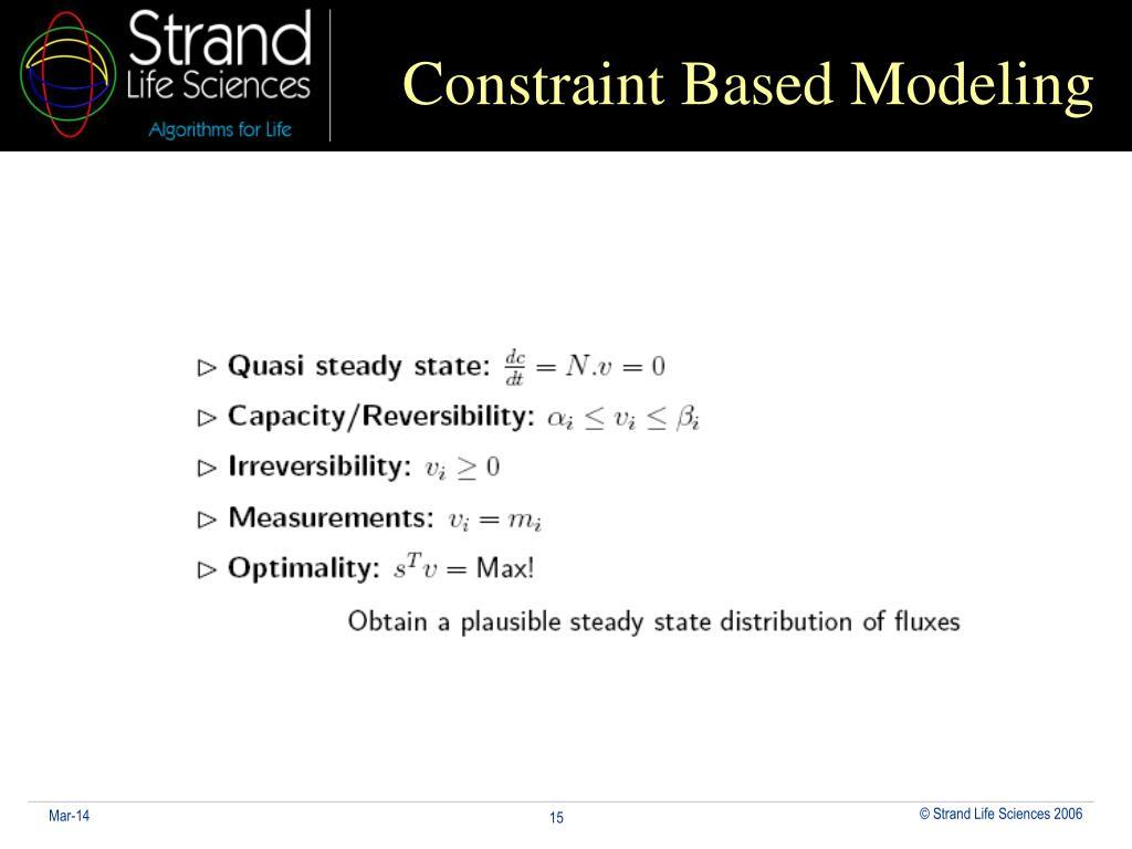 Constraint Based Modeling