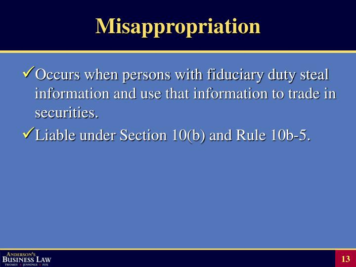 Misappropriation