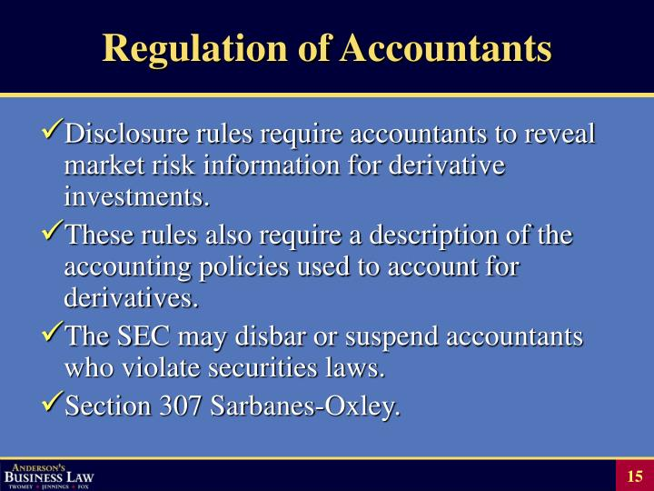 Regulation of Accountants