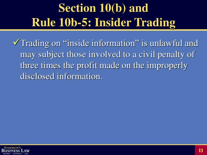 Section 10(b) and