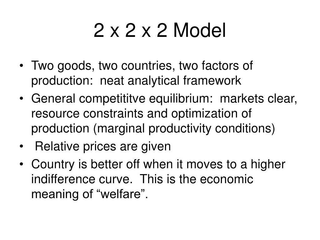 2 x 2 x 2 Model