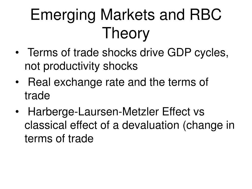 Emerging Markets and RBC Theory