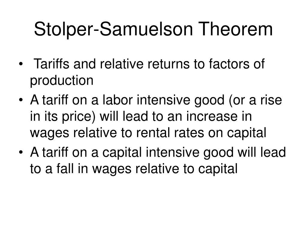 Stolper-Samuelson Theorem
