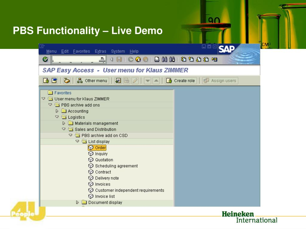 PBS Functionality – Live Demo
