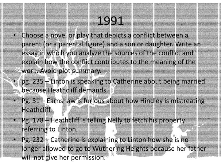 conflict between nature and culture wuthering heights 1 Free wuthering heights papers, essays, and research papers.