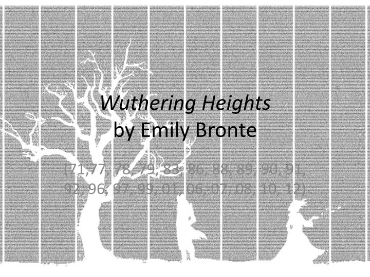 wuthering heights by emily bronte essay Wuthering heights is consumed with characters that support each other's fault, or even contrast one another completelythe name of this widely used literary element.