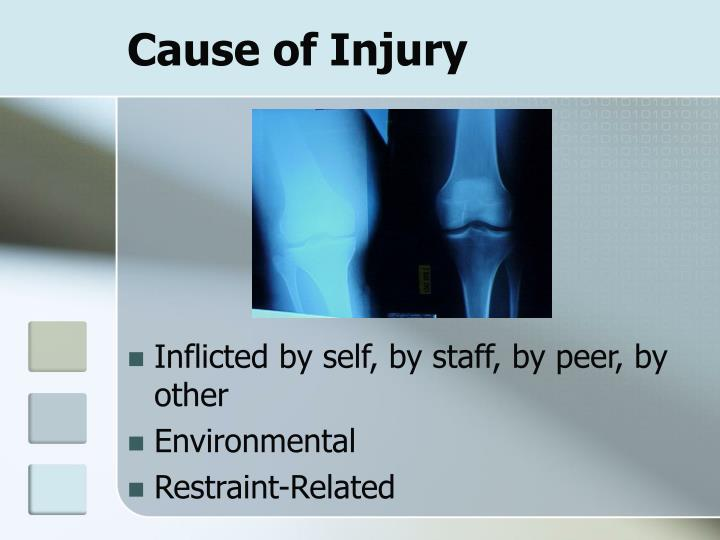 Cause of Injury