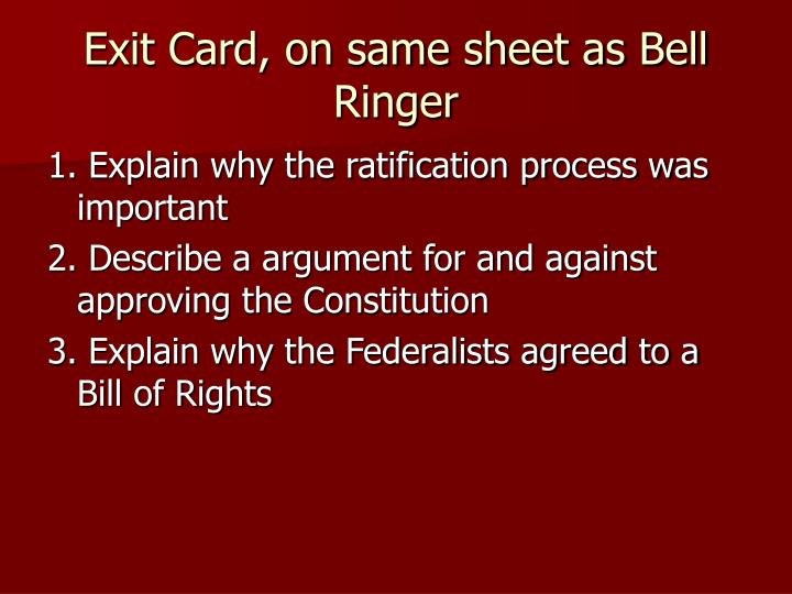 Exit Card, on same sheet as Bell Ringer
