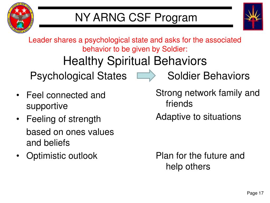Leader shares a psychological state and asks for the associated behavior to be given by Soldier: