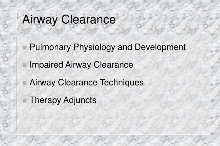Airway clearance2