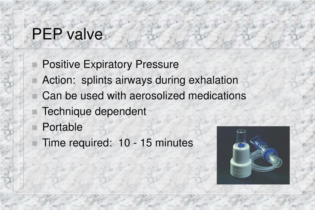 PEP valve