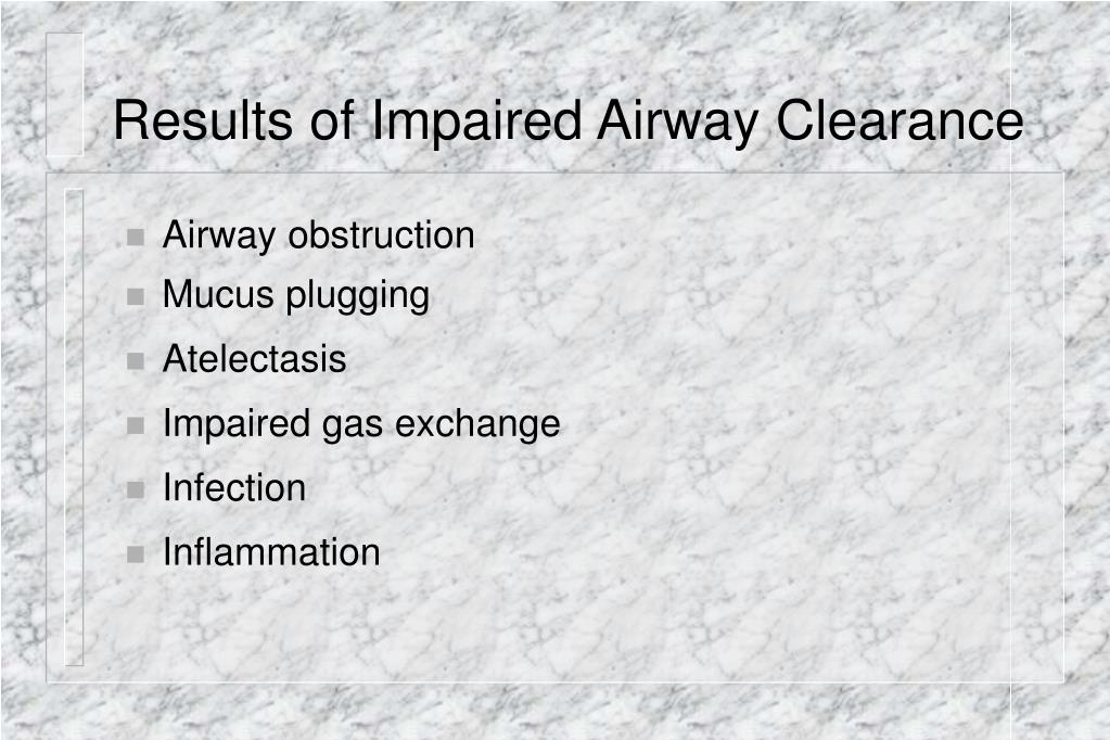 Results of Impaired Airway Clearance