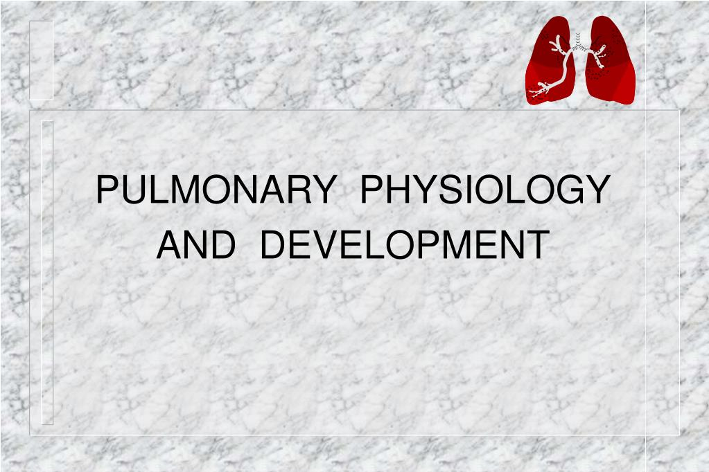 PULMONARY  PHYSIOLOGY