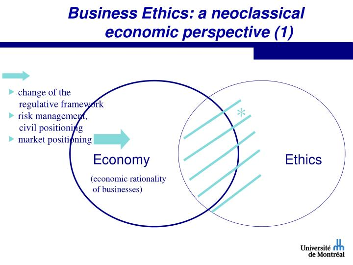 Business Ethics: a neoclassical economic perspective (1)