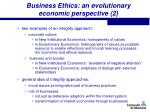 business ethics an evolutionary economic perspective 2
