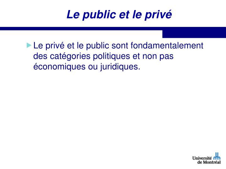 Le public et le privé