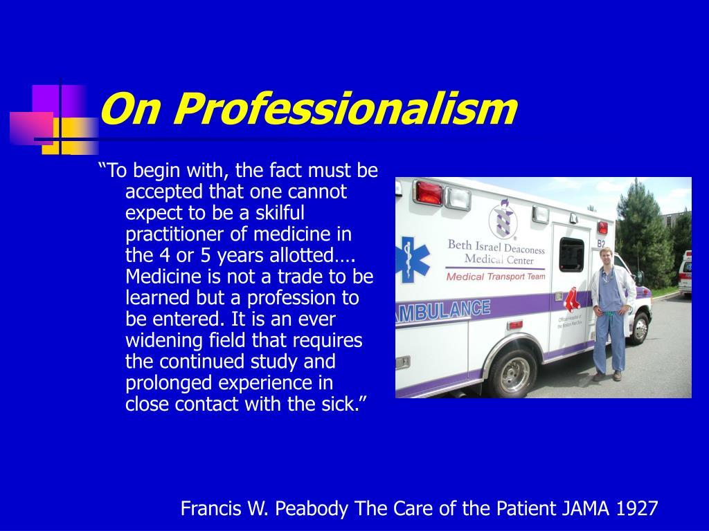 On Professionalism