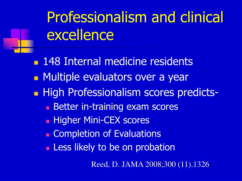 Professionalism and clinical excellence