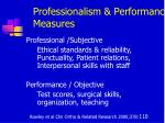 professionalism performance measures