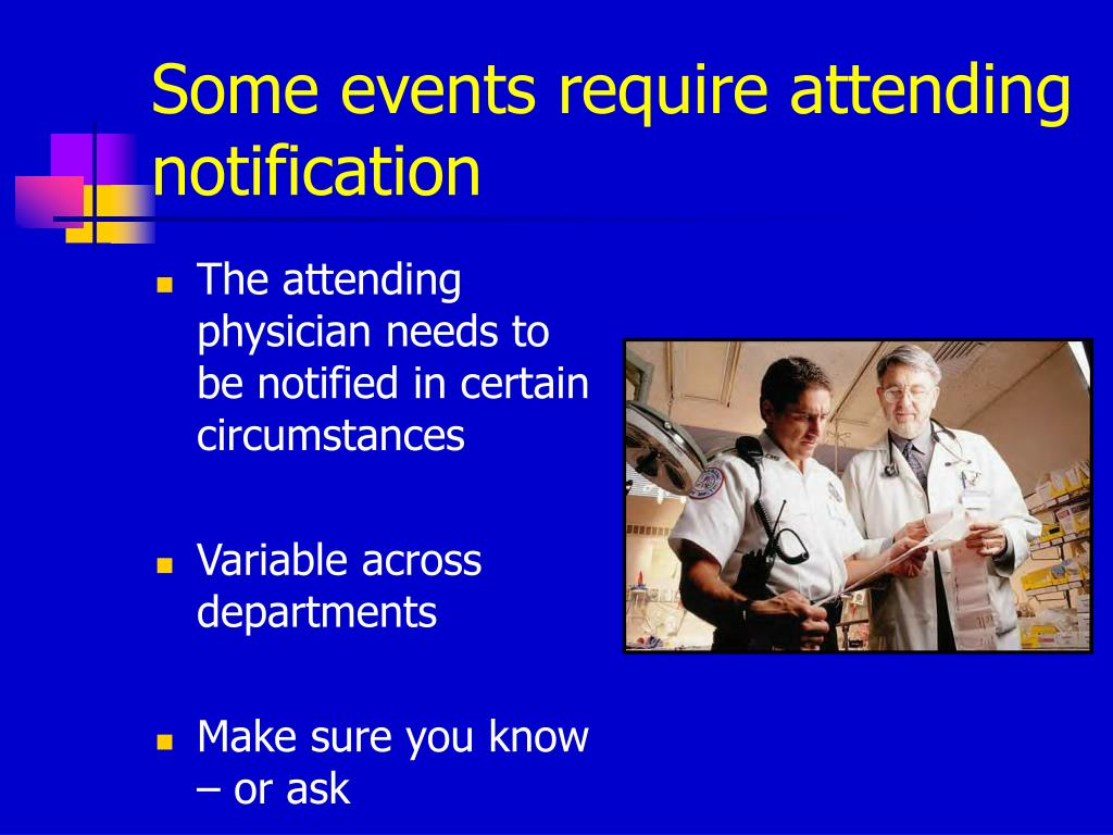 Some events require attending notification