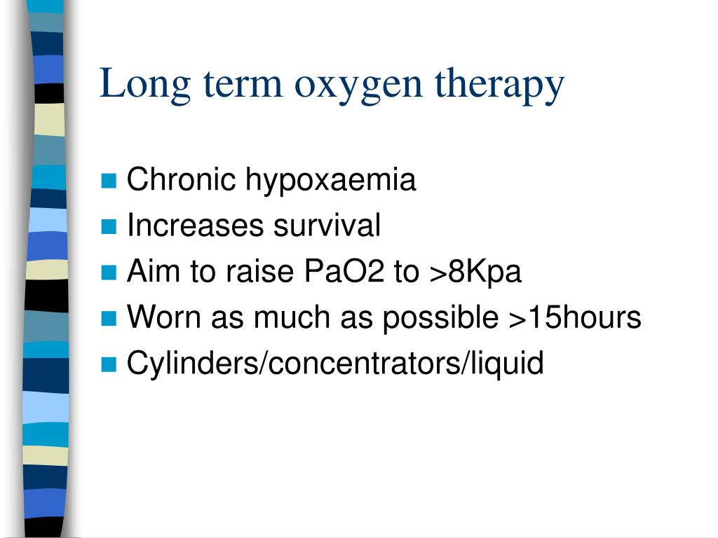 Long term oxygen therapy
