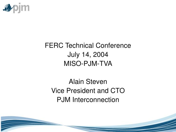 FERC Technical Conference