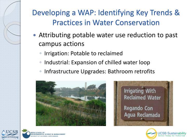 Developing a WAP: Identifying Key Trends & Practices in Water Conservation