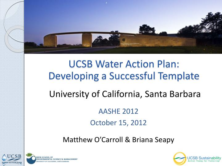 UCSB Water