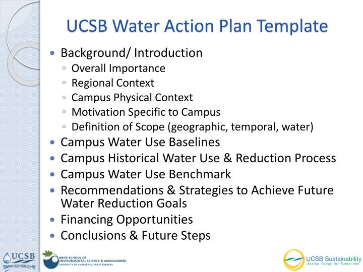 UCSB Water Action Plan Template