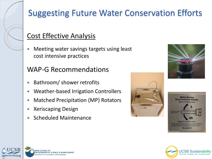 Suggesting Future Water Conservation Efforts