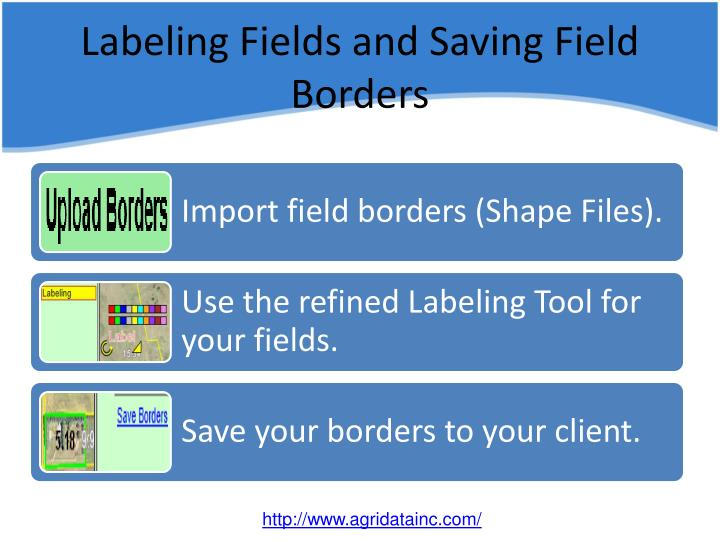 Labeling fields and saving field borders