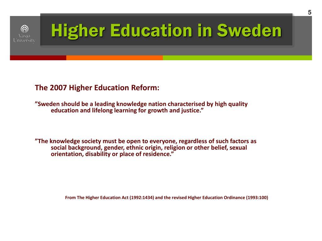 Higher Education in Sweden