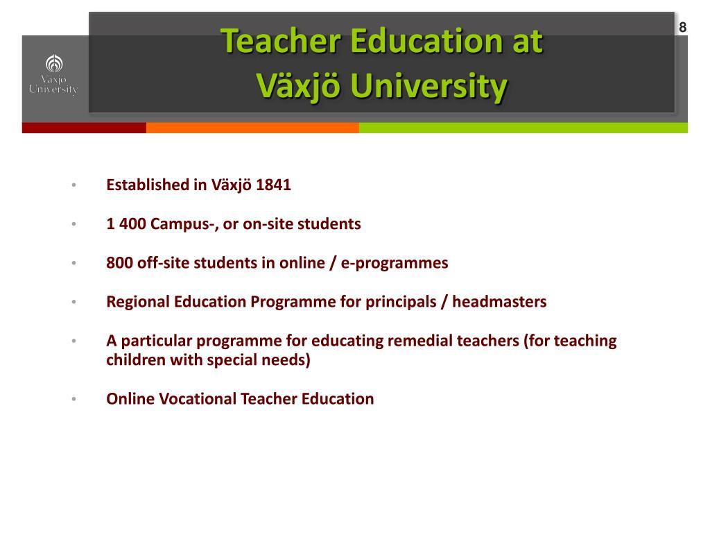 Teacher Education at