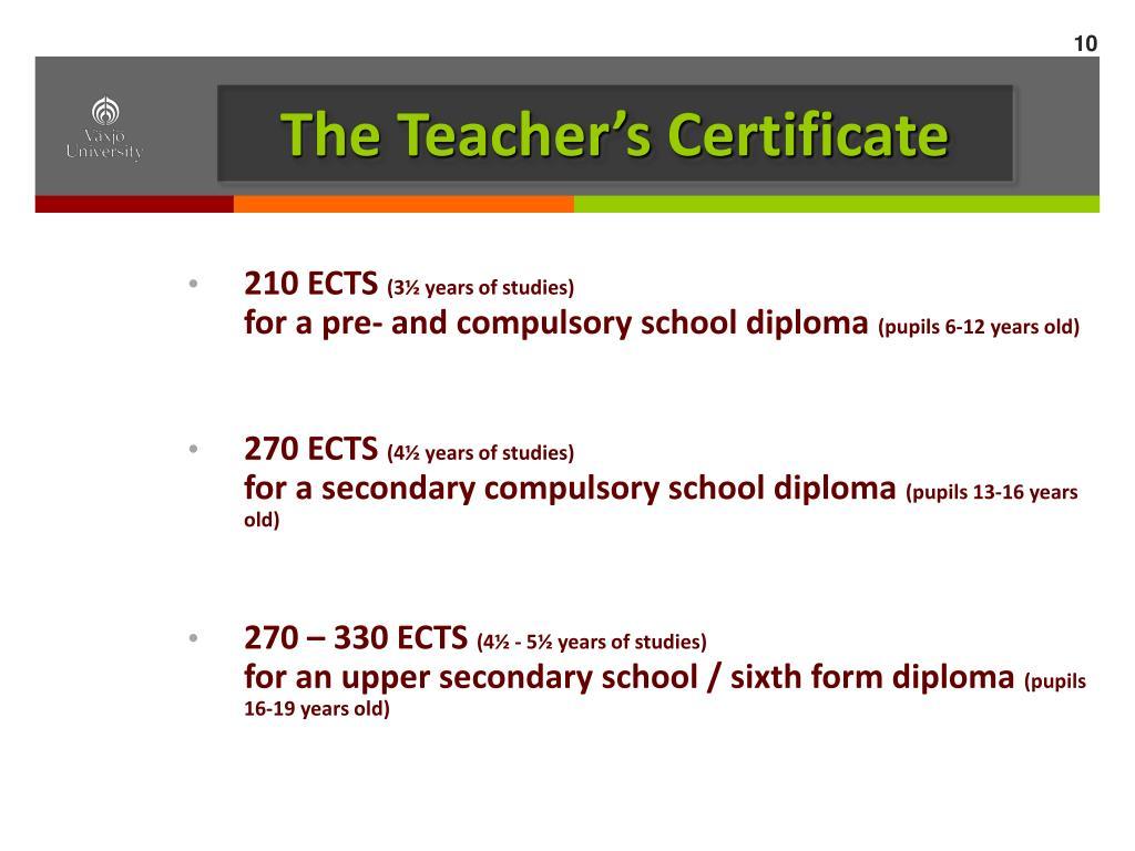 The Teacher's Certificate