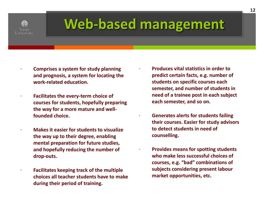 Web-based management