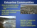 estuarine communities
