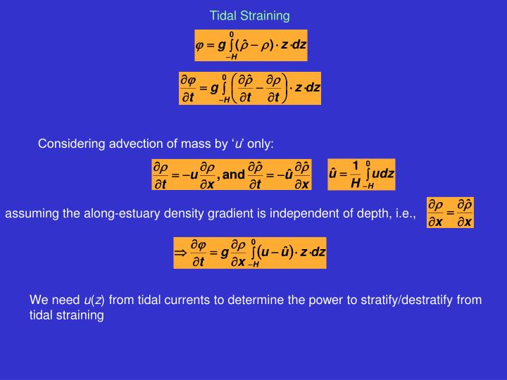 Considering advection of mass by '