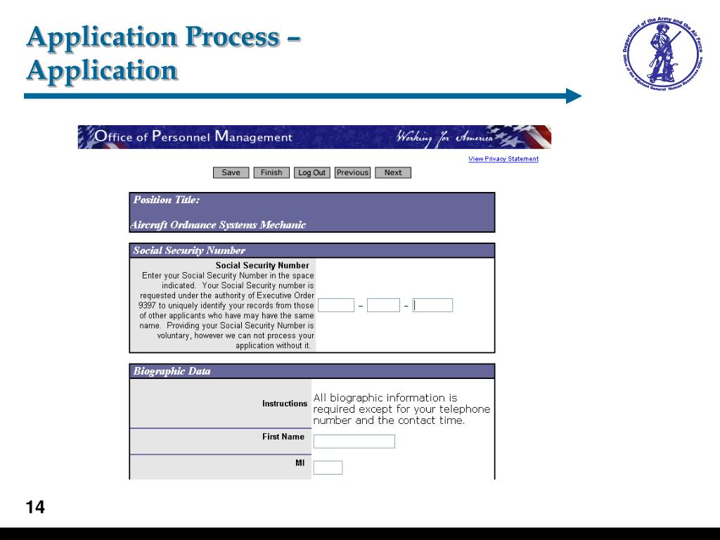 Application Process –