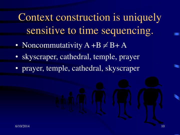 Context construction is uniquely sensitive to time sequencing.