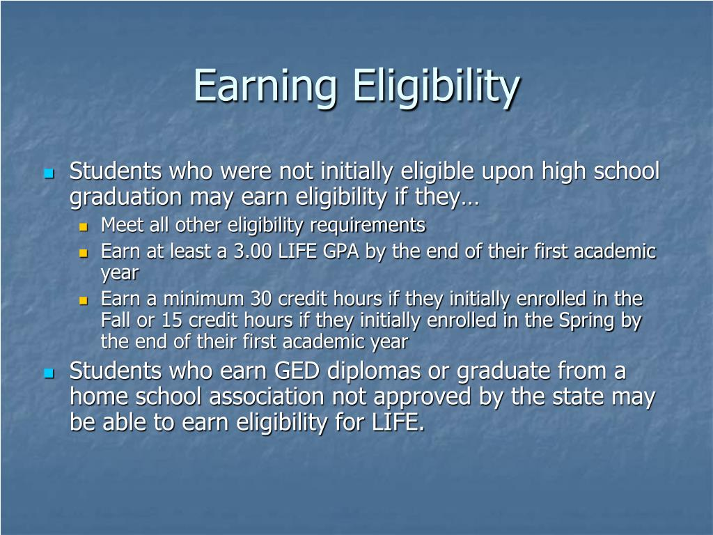 Earning Eligibility
